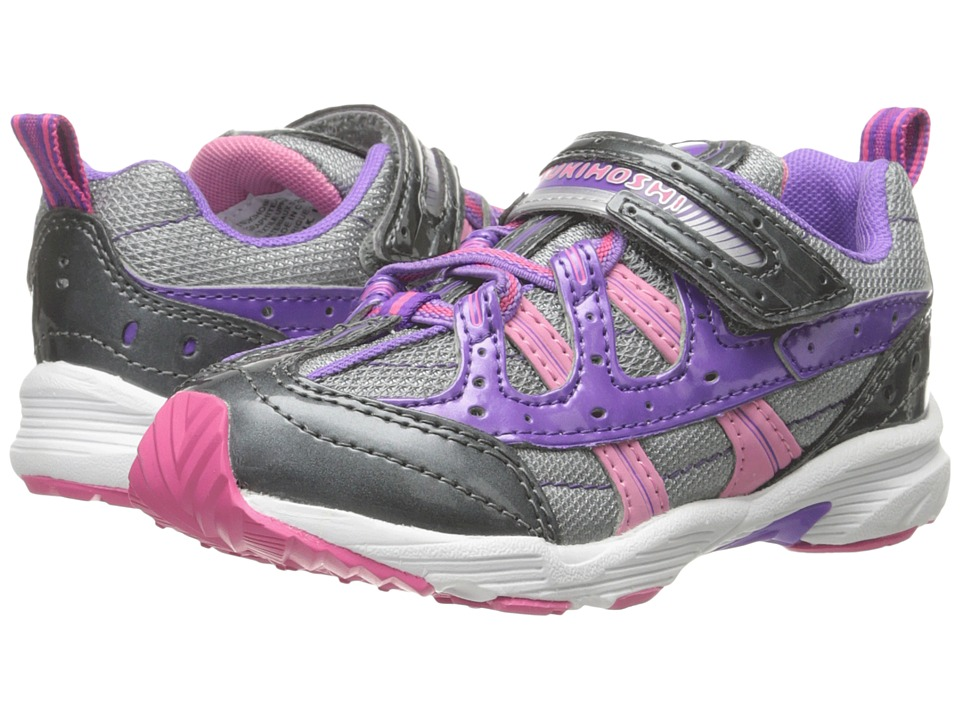 Tsukihoshi Kids - Speed (Toddler/Little Kid) (Graphite/Purple) Girls Shoes