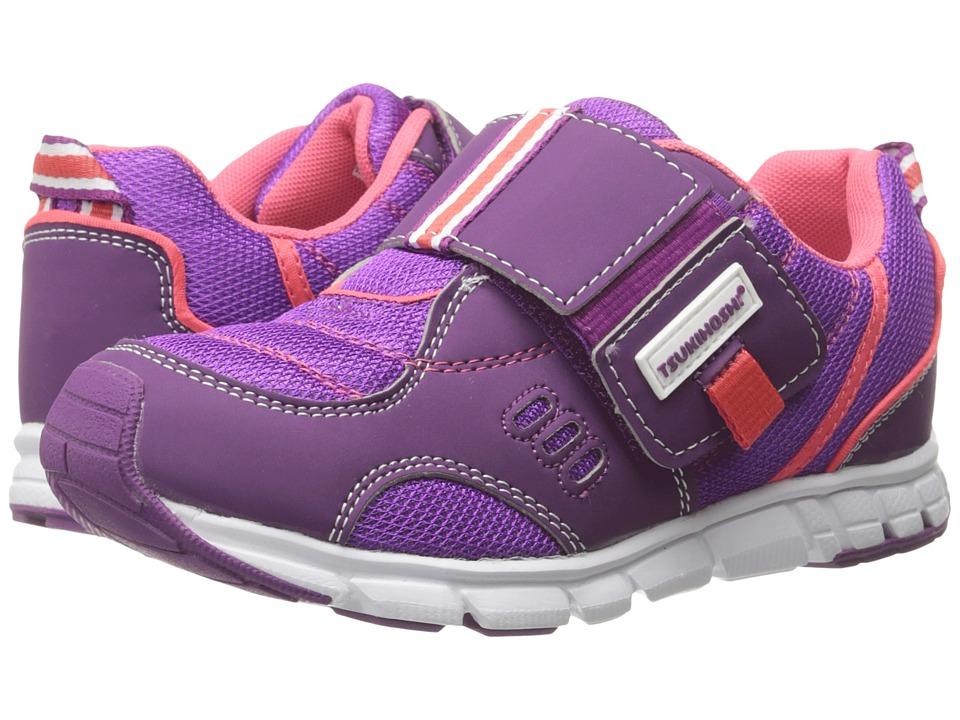 Tsukihoshi Kids - Soho (Toddler/Little Kid) (Purple/Coral) Girls Shoes