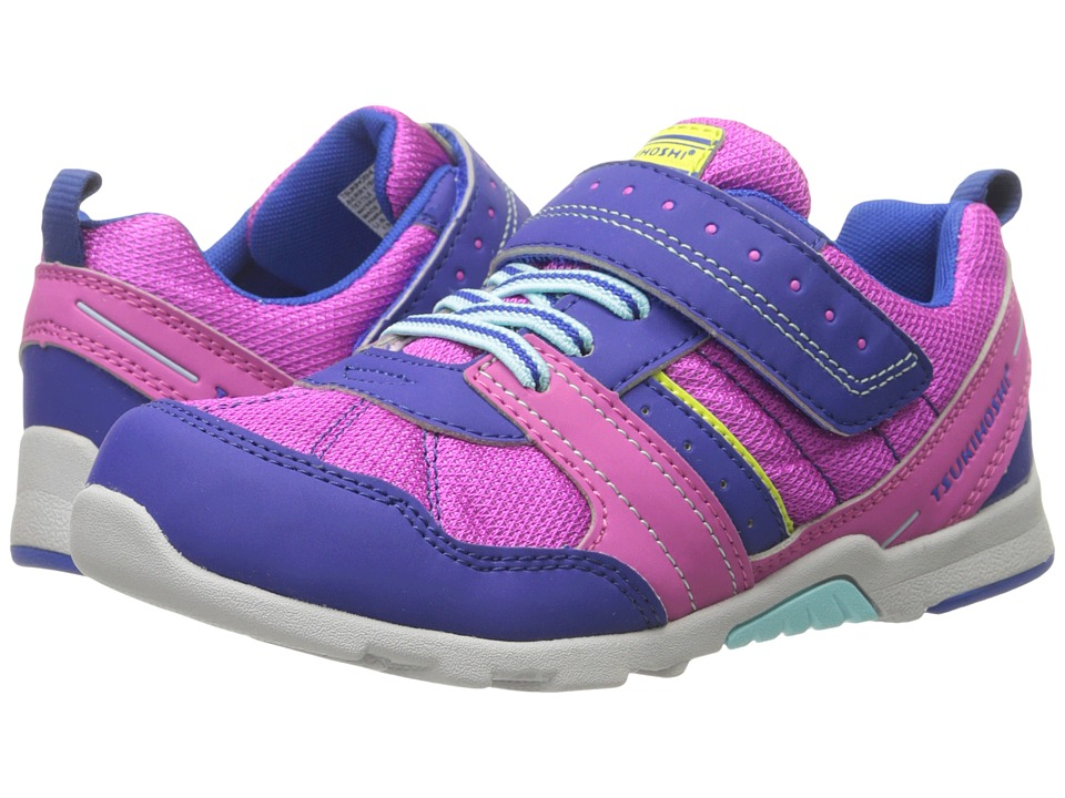 Tsukihoshi Kids - Trek (Toddler/Little Kid) (Berry/Blue) Girls Shoes