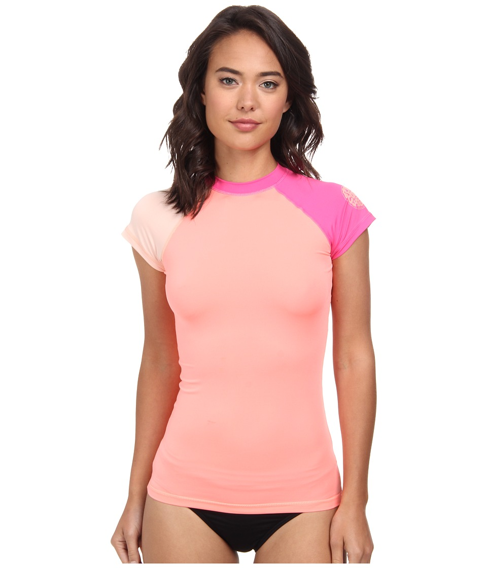 Rip Curl - Surf Session Cap Sleeve (Creamsicle) Women's Swimwear