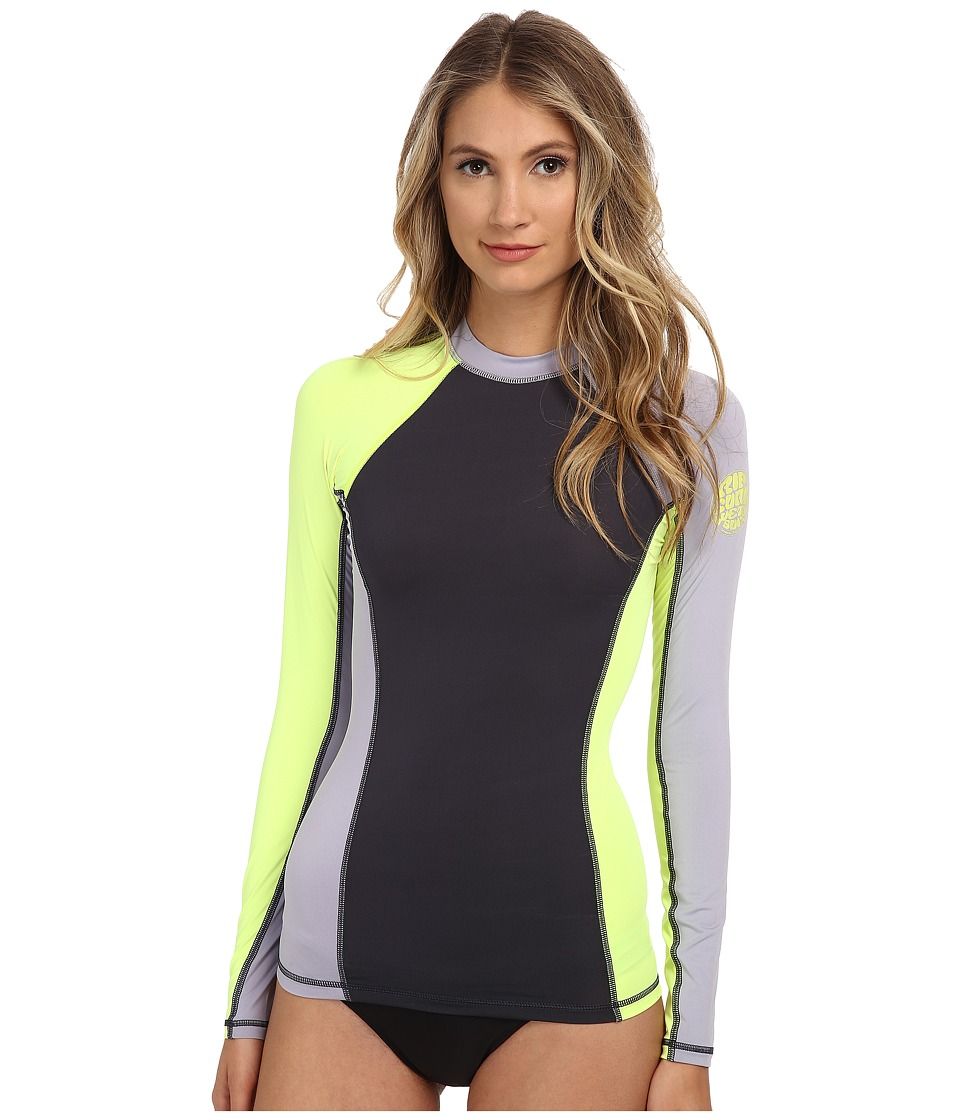 Rip Curl Surf Session Long Sleeve (Heather Sunny Lime) Women