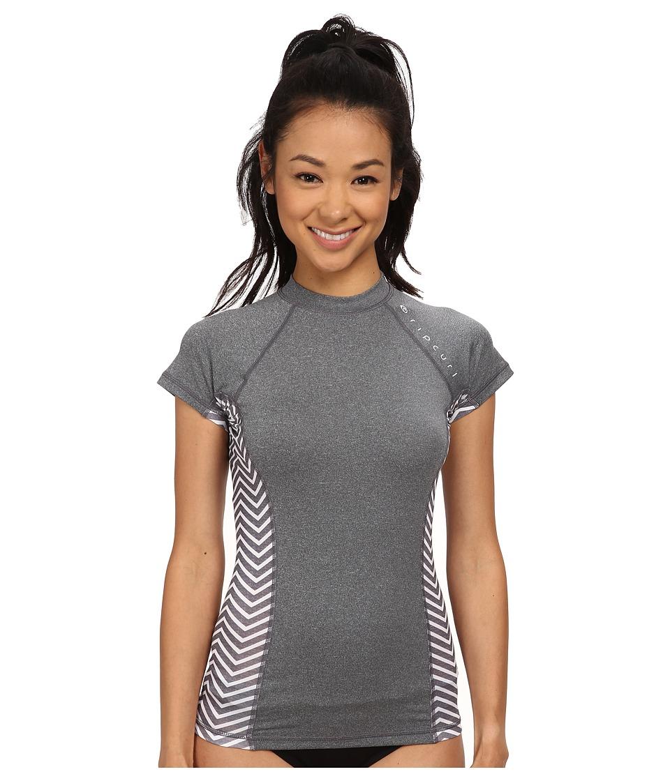 Rip Curl - Trestles Cap Sleeve (Dark Grey) Women's Swimwear