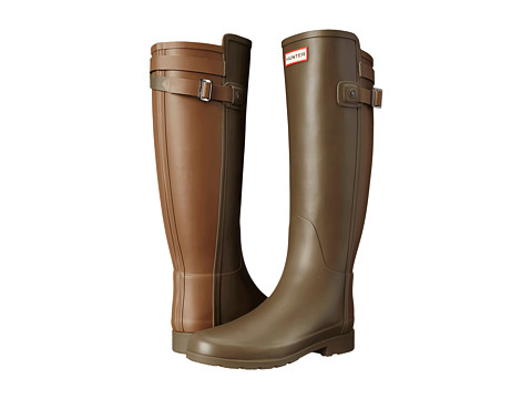 Hunter - W Original Tall BT Refin (Swamp Green/Light Khaki Brown) Women's Rain Boots