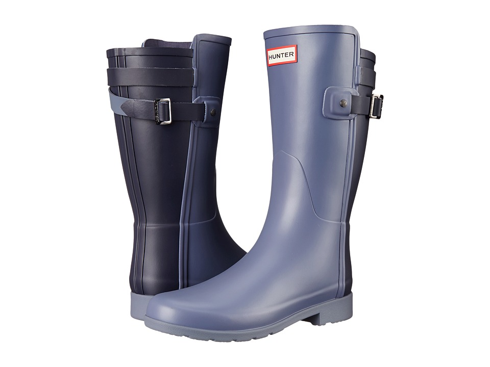Hunter - W Original Short BT Refined (Mineral Blue/Midnight) Women's Rain Boots