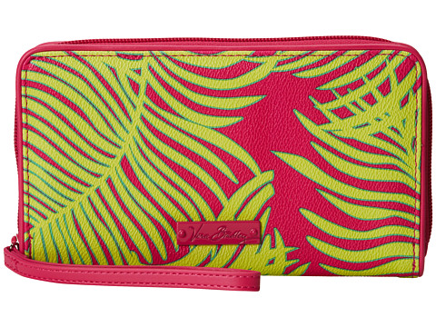 Vera Bradley - Large Zip-Around Wallet (Palm Fronds) Wallet Handbags