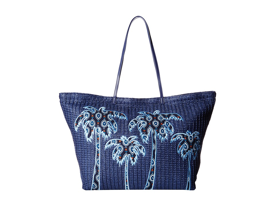 Vera Bradley - Large Straw Tote (Marrakesh Motifs) Tote Handbags