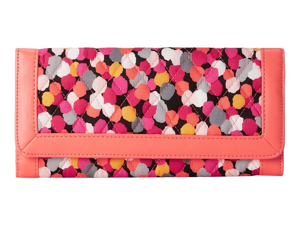 Vera Bradley - Trimmed Vera Wallet (Pixie Confetti) Wallet Handbags