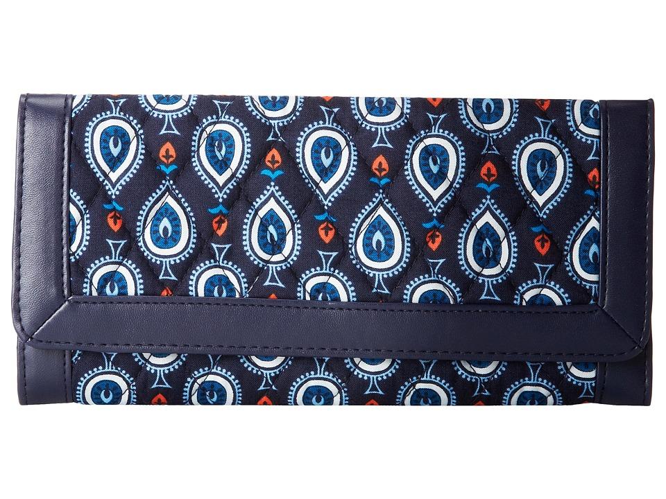 Vera Bradley - Trimmed Vera Wallet (Marrakesh Motifs) Wallet Handbags
