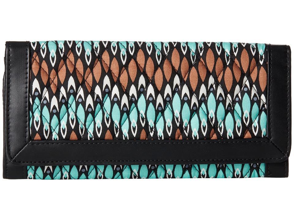 Vera Bradley - Trimmed Vera Wallet (Sierra Stream) Wallet Handbags