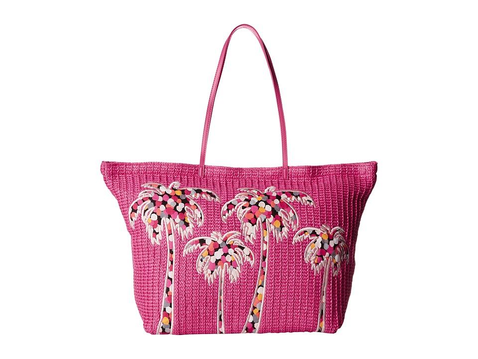 Vera Bradley - Large Straw Tote (Pixie Confetti) Tote Handbags