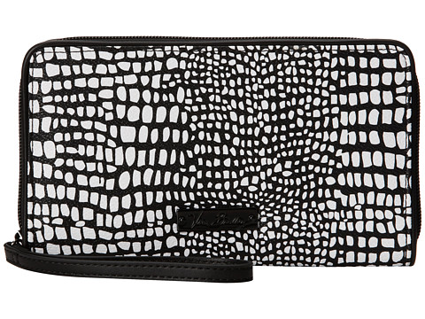 Vera Bradley - Large Zip-Around Wallet (Midnight Snake Skin) Wallet Handbags