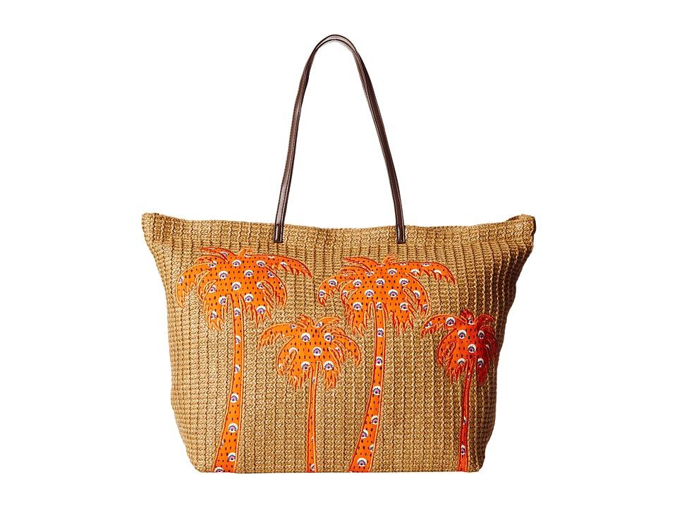 Vera Bradley - Large Straw Tote (Rio Rosies) Tote Handbags