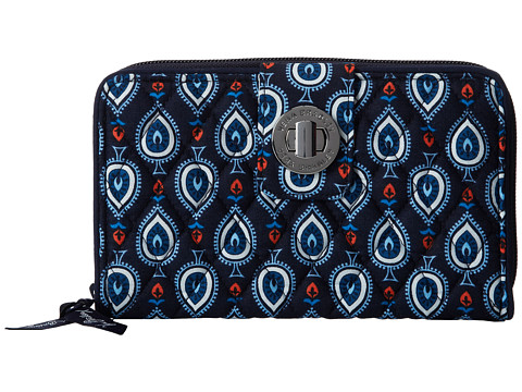 Vera Bradley - Turn Lock Wallet (Marrakesh Motifs) Wallet Handbags