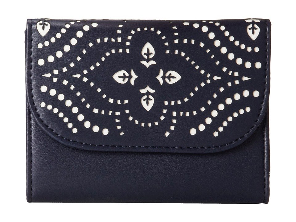 Vera Bradley - Laser Cut Small Wallet (Morocco Navy) Wallet Handbags