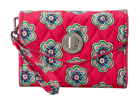 Vera Bradley - Your Turn Smartphone Wristlet (Pink Swirls Flowers) Wristlet Handbags
