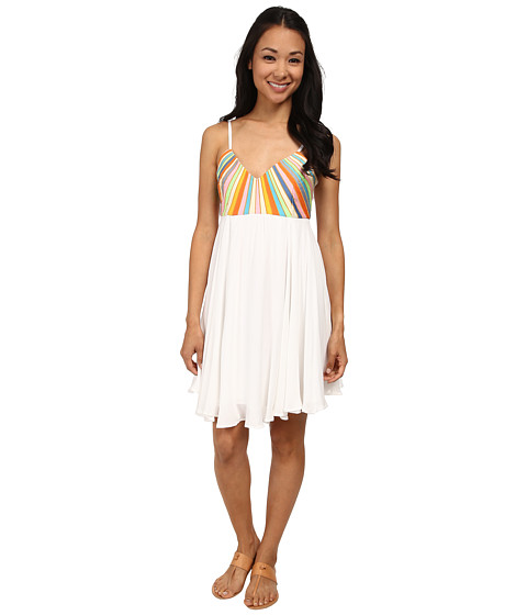 Mara Hoffman - Embroidered Dress (White) Women's Dress
