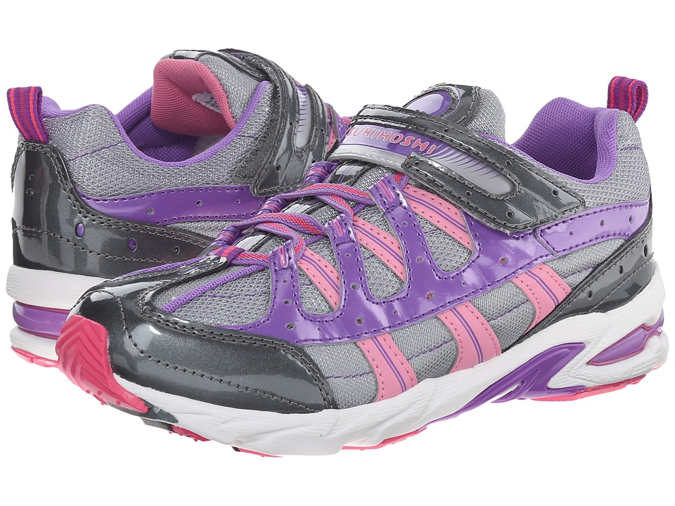 Tsukihoshi Kids - Speed (Little Kid/Big Kid) (Graphite/Purple) Girls Shoes