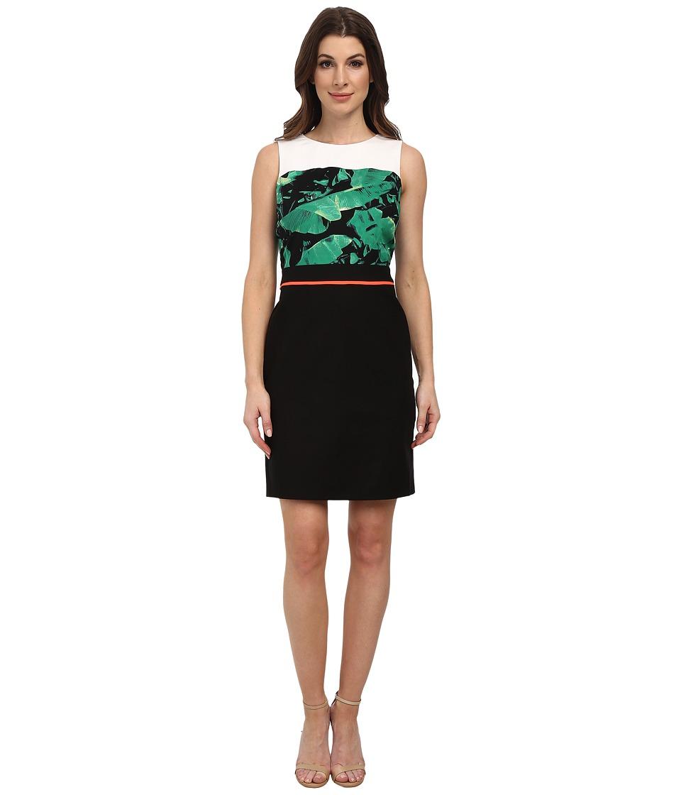 Vince Camuto - Sleeveless Island Palm Dress w/ Heavy Georgette (Cactus) Women's Dress