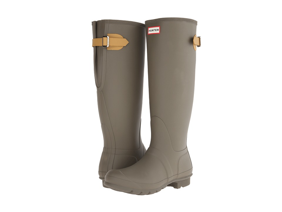 Hunter - Original Back Adjustable (Swamp Green/Burnt Sulphur) Women's Rain Boots