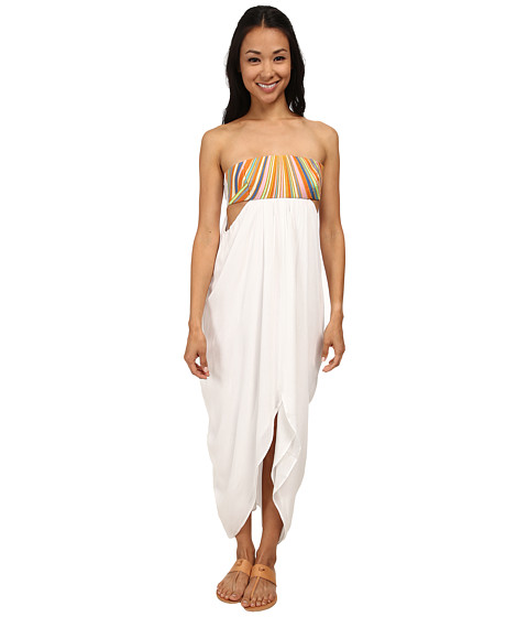 Mara Hoffman - Embroidered Maxi Dress (White) Women's Dress
