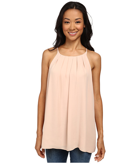 Vince Camuto - Sleeveless Tank Top w/ Front Pleats (Apricot Ice) Women's Sleeveless
