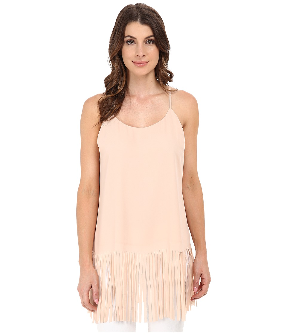 Vince Camuto - Sleeveless Tank Top w/ Fringe (Apricot Ice) Women's Sleeveless