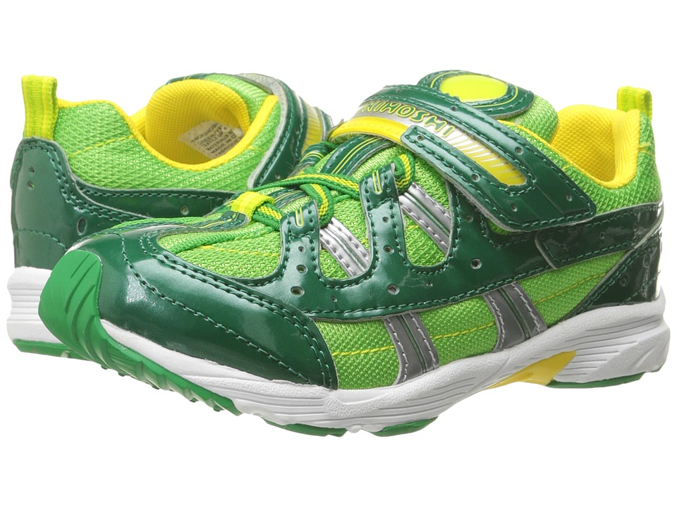 Tsukihoshi Kids - Speed (Toddler/Little Kid) (Green/Yellow) Boys Shoes
