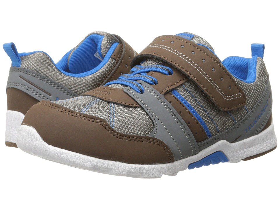 Tsukihoshi Kids - Trek (Toddler/Little Kid) (Brown/Blue) Boys Shoes