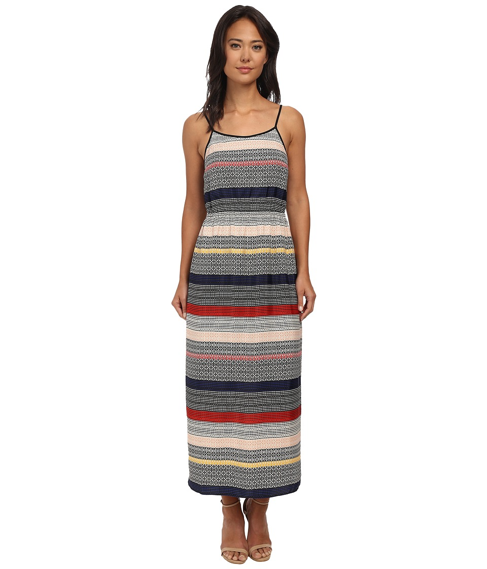 Vince Camuto - Morocco Tile Stripe Maxi Dress (Antique White) Women's Dress
