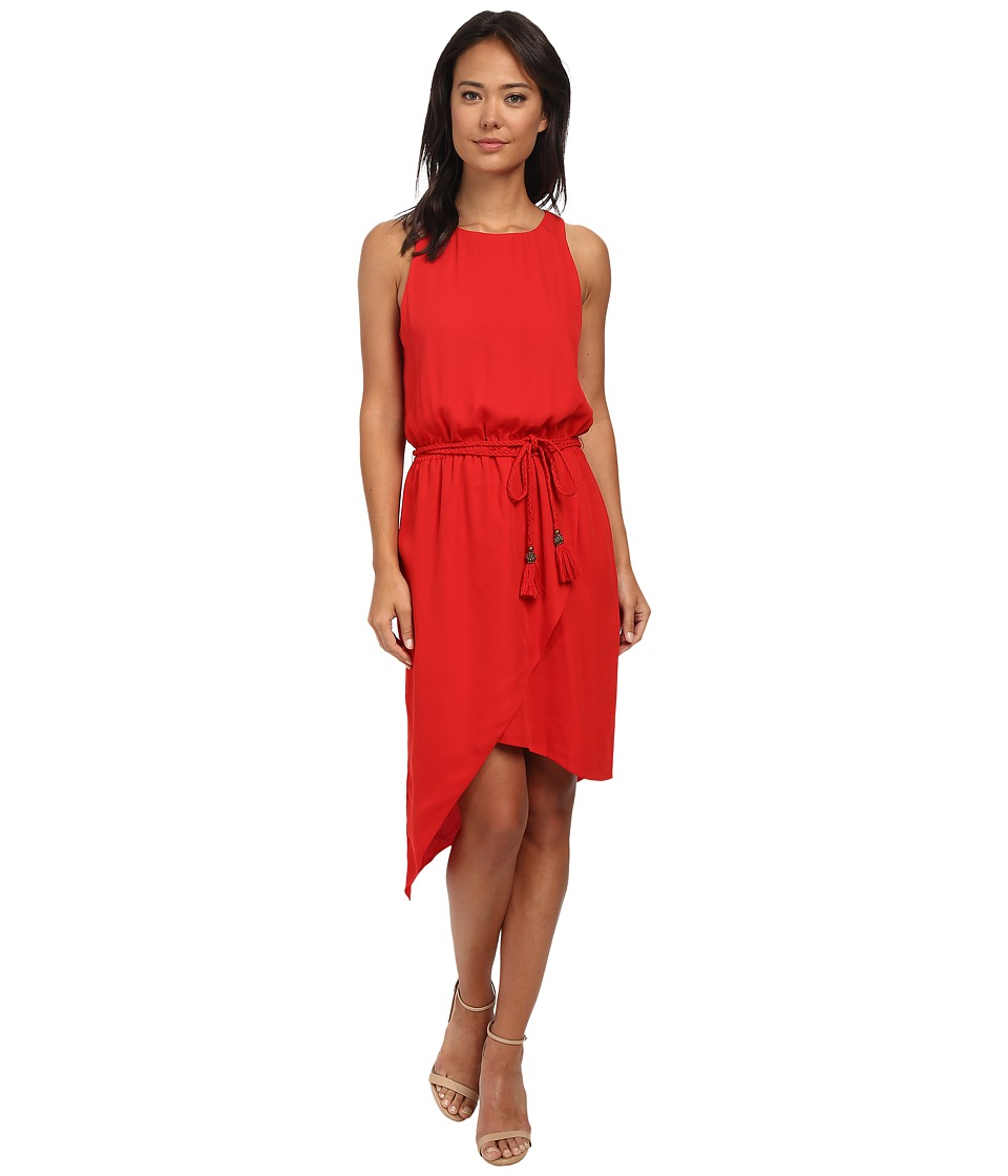 Vince Camuto - Sleeveless Asymmetrical Hem Wrap Front Dress (Mars Red) Women's Dress