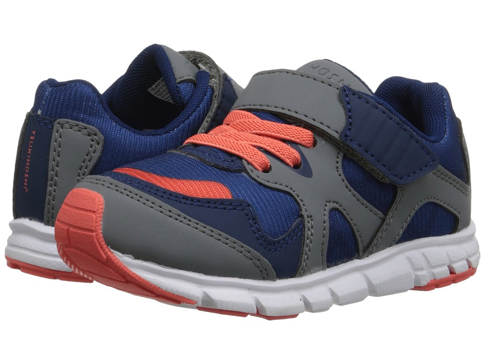 Tsukihoshi Kids - Bolt (Toddler/Little Kid) (Navy/Orange) Boys Shoes