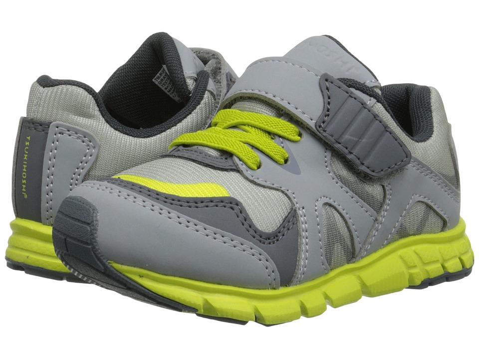 Tsukihoshi Kids - Bolt (Toddler/Little Kid) (Gray/Yellow) Boys Shoes