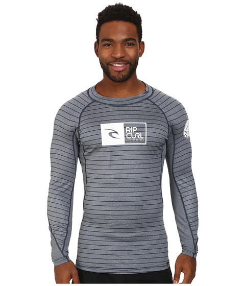 Rip Curl - Ripawatu Long Sleeve Rashguard (Navy Heather) Men's Swimwear