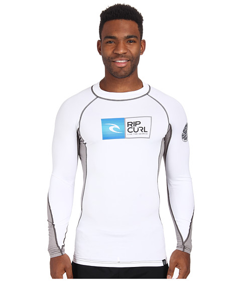 Rip Curl - Ripawatu Long Sleeve Rashguard (White) Men's Swimwear