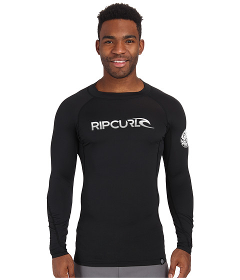 Rip Curl - Corp Long Sleeve Rashguard (Black) Men's Swimwear