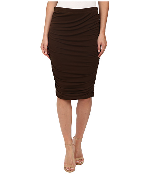Vince Camuto - Ruched Midi Tube Skirt (Chocolate) Women
