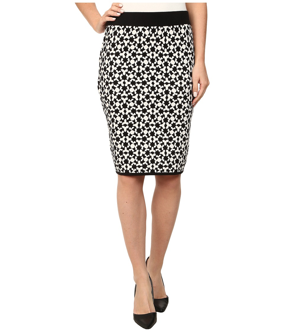 Vince Camuto - Jacquard Sweater Pencil Skirt (Rich Black) Women's Skirt