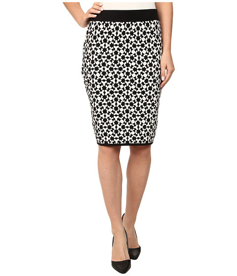 Vince Camuto - Jacquard Sweater Pencil Skirt (Rich Black) Women