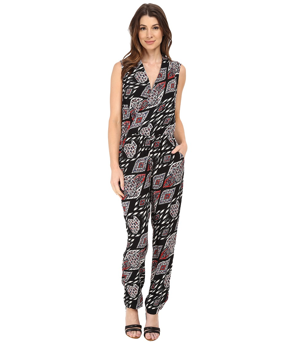 Vince Camuto - Sleeveless Marrakesh Tapestry Jumpsuit (Rich Black) Women's Jumpsuit & Rompers One Piece