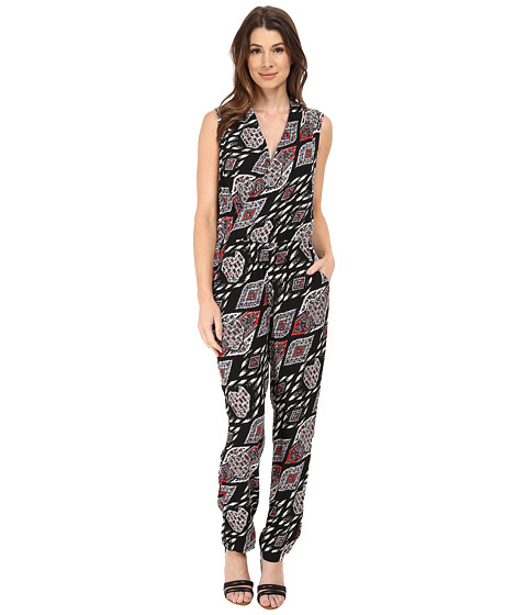 Vince Camuto - Sleeveless Marrakesh Tapestry Jumpsuit (Rich Black) Women