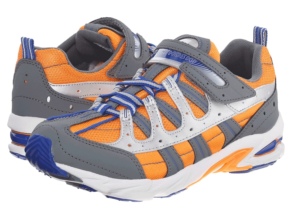 Tsukihoshi Kids - Speed (Little Kid/Big Kid) (Gray/Orange) Boys Shoes