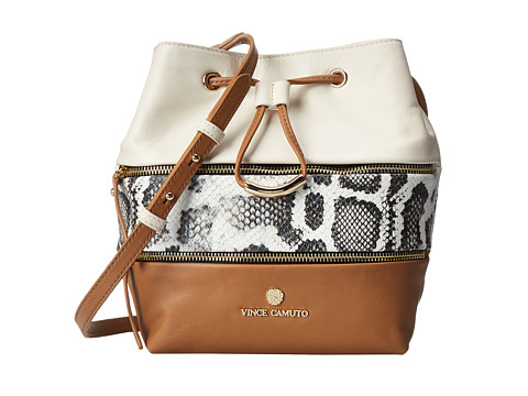 Vince Camuto - Meg Crossbody (White/Rich Auburn) Cross Body Handbags