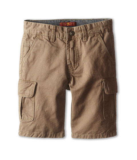 7 For All Mankind Kids - Carsen Cargo Shorts (Big Kids) (Dark Khaki) Boy's Shorts