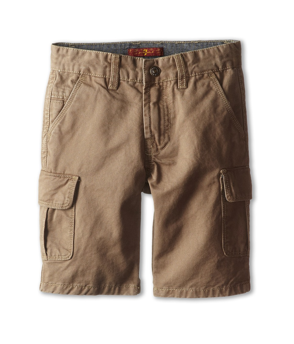 7 For All Mankind Kids - Carsen Cargo Shorts (Little Kids) (Dark Khaki) Boy's Shorts