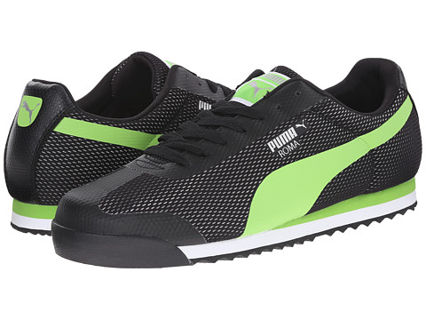 PUMA - Roma (Black/Jasmine Green/Puma Silver) Men's Classic Shoes