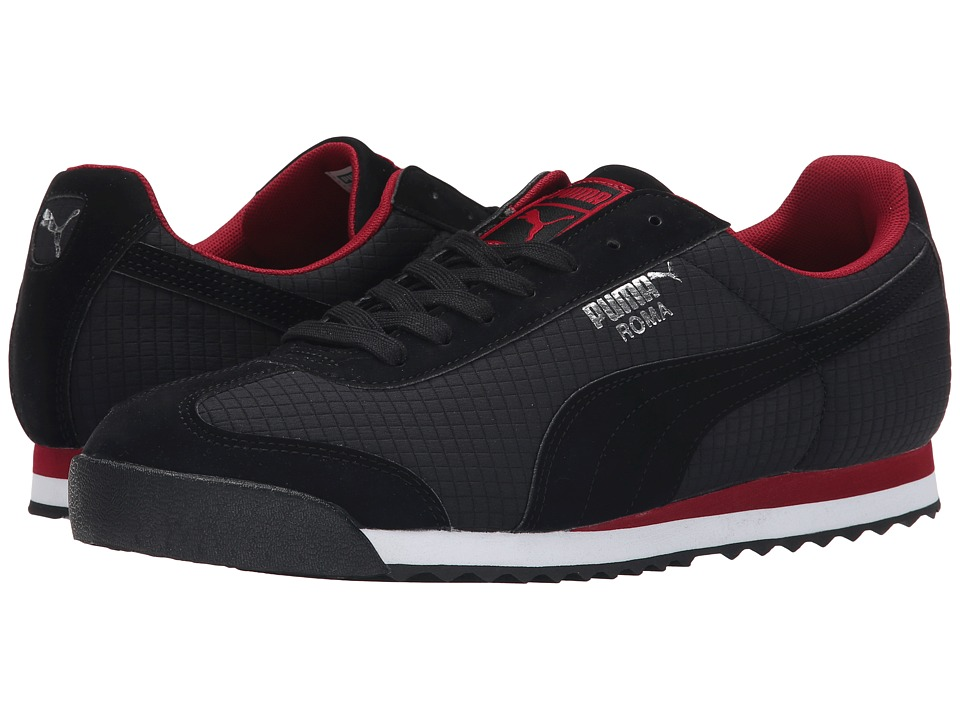 PUMA - Roma (Black/Rio Red) Men's Classic Shoes