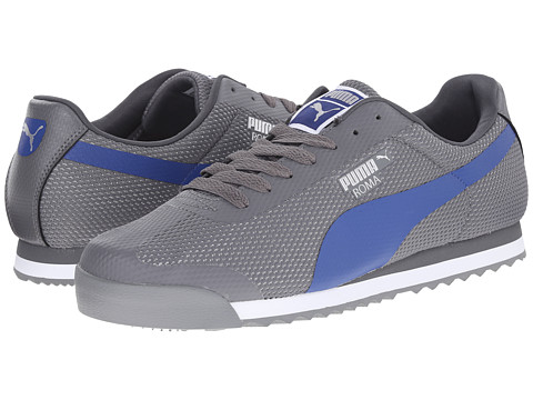 PUMA - Roma (Steel Grey/Limoges/Puma Silver) Men's Classic Shoes