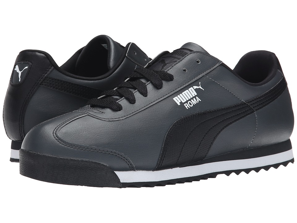 PUMA - Roma Basic (Dark Shadow/Black/White) Men's Shoes
