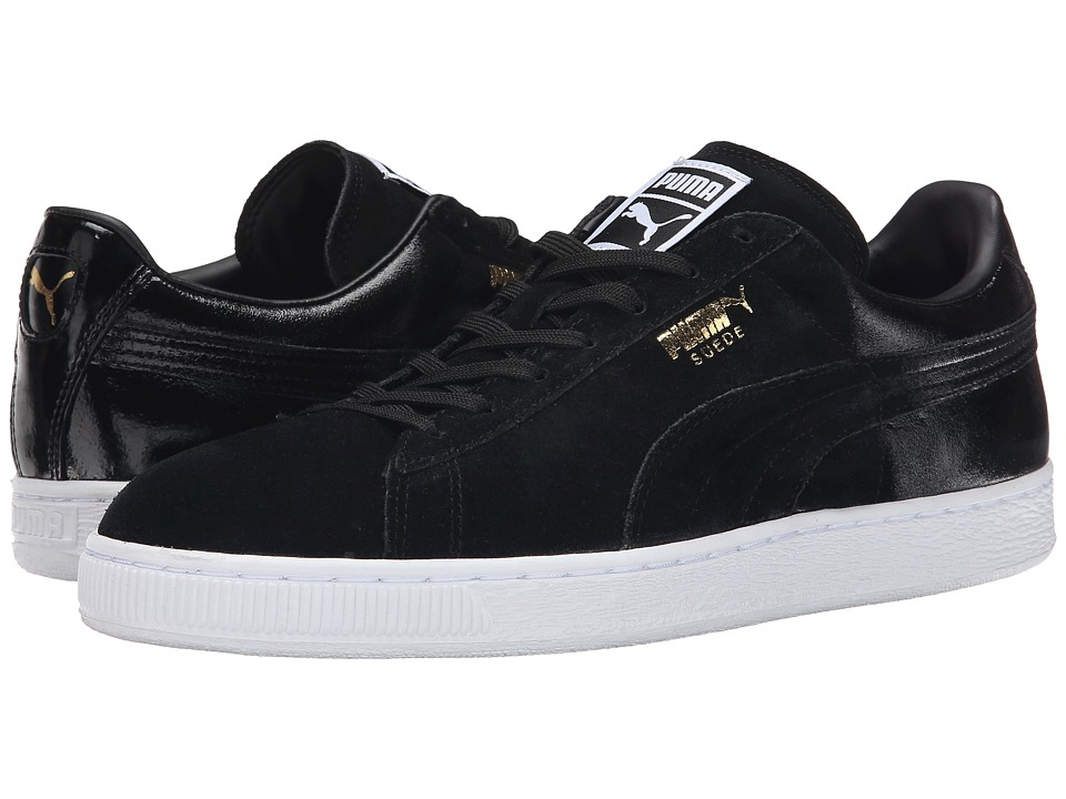 PUMA - Suede Classic Blur (Black/Black/White) Men's Shoes