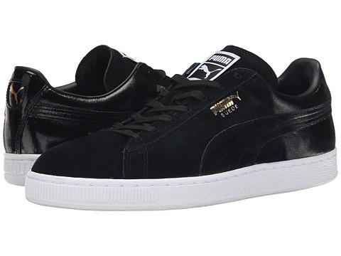 PUMA - Suede Classic Blur (Black/Black/White) Men's Shoes